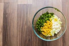 Салат в плите стекла Стоковое Фото