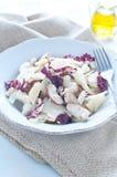 Салат гриба Porcini с сельдереем, radicchio и пармезаном от Стоковые Изображения