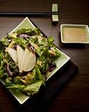 Салат груши на уникально плите Стоковое Изображение