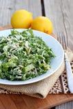 Салат листовой капусты и миндалины Стоковое Фото