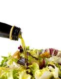 Салат и масло Стоковое Изображение RF