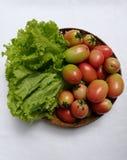 Салат и томаты Стоковая Фотография RF