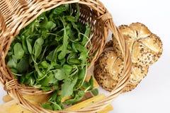 Салат и хлебцы Стоковые Изображения