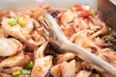 Салат кальмара и scallops Стоковое Изображение RF