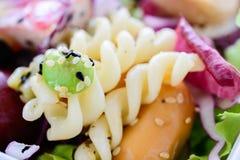 Салат крупного плана, еда для здоровой Стоковые Изображения