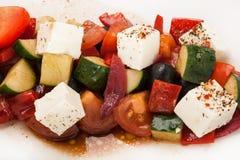 Салат крупного плана от покрашенных свежих овощей Стоковые Фото