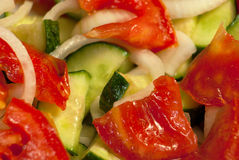 Салат крупного плана свежих овощей Стоковое фото RF