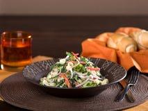 Салат макаронных изделий с овощами Стоковая Фотография RF