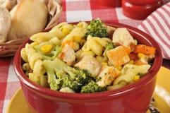 Салат макаронных изделий с цыпленком Стоковая Фотография