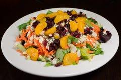 Салат мандарина на плите Стоковое Фото
