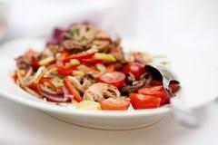 Салат морепродуктов Селективный фокус стоковые фотографии rf