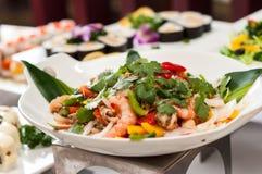 Салат морепродуктов стоковое изображение