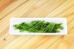 Салат морской водоросли, здоровый продукт моря в блюде Стоковые Изображения