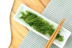 Салат морской водоросли, здоровый продукт моря в блюде Стоковые Изображения RF