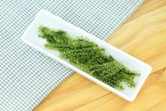 Салат морской водоросли, здоровый продукт моря в блюде Стоковая Фотография