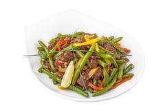 Салат мяса зеленой фасоли стоковые фотографии rf
