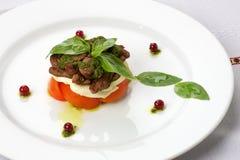 Салат мяса на плите Стоковая Фотография RF