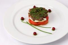 Салат мяса на плите Стоковые Фото
