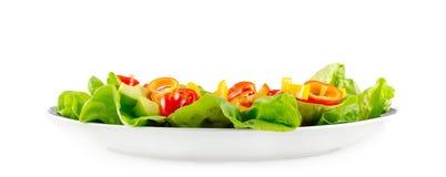 Салат на белой плите Стоковая Фотография