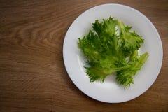 Салат на белой плите Стоковое фото RF
