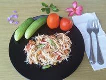 Салат овощей на плите Стоковое Изображение