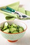 Салат огурца в шаре Стоковое Изображение
