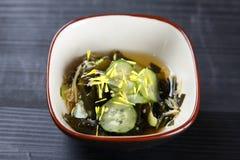 Салат огурца и морской водоросли Стоковое Фото