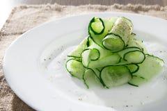 Салат огурца с травами Стоковое Изображение RF