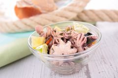 Салат осьминога Стоковые Фото