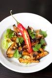 Салат от зажаренных в духовке баклажанов Стоковая Фотография