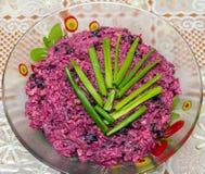 Салат от красной свеклы Стоковое Фото
