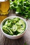 Салат от огурца и зеленых трав Стоковые Изображения RF