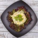 Салат от редиски, зеленого лука и вареного яйца с майонезом Стоковые Фото