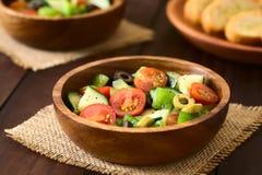 Салат оливки, томата, перца и огурца Стоковое фото RF