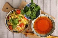 Салат папапайи и манго Стоковое Изображение RF