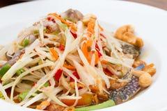 салат папапайи тайский Стоковая Фотография