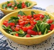 Салат поля с паприкой Стоковое фото RF