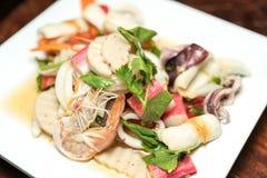 Салат продукта моря пряный Стоковая Фотография RF