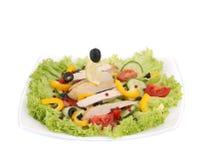 салат плиты цыпленка Стоковые Изображения