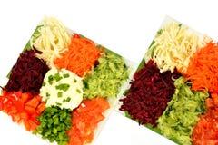 Салат различных овощей видов с сметаной Стоковое Фото