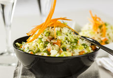 Салат риса с овощами стоковые изображения rf