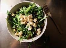 Салат свежего овоща изолированный на белой предпосылке Стоковое Изображение