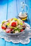 Салат Свежий салат салата лета Здоровое среднеземноморское ol салата Стоковое фото RF