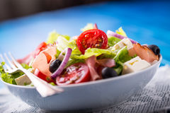 Салат Свежий салат салата лета Здоровое среднеземноморское ol салата Стоковое Изображение RF