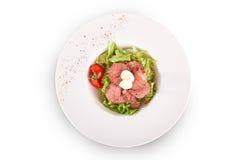 Салат свежих овощей и говядины Стоковые Фотографии RF