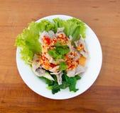 салат свинины пряный стоковое изображение rf