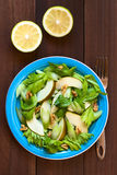 Салат сельдерея, груши и грецкого ореха Стоковая Фотография RF