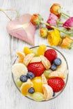 салат стекла плодоовощ шара Стоковое Изображение RF