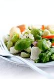 Салат сыра фета и фасоли Endamame стоковое изображение