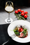 Салат с вином Стоковая Фотография